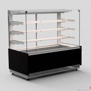 Vitrina frigorifica orizontala pentru cofetarie, cu geamuri drepte