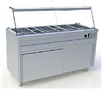 Modul cald bain-marie autoservire capacitate 4xGN 1/1